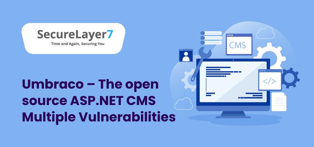 ASP.NET CMS Multiple Vulnerabilities
