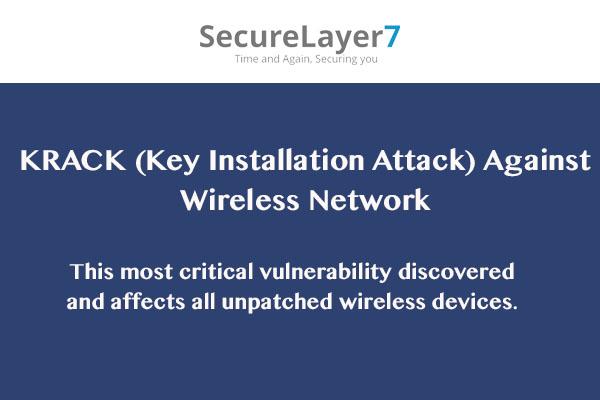WPA2 Protocol Vulnerability