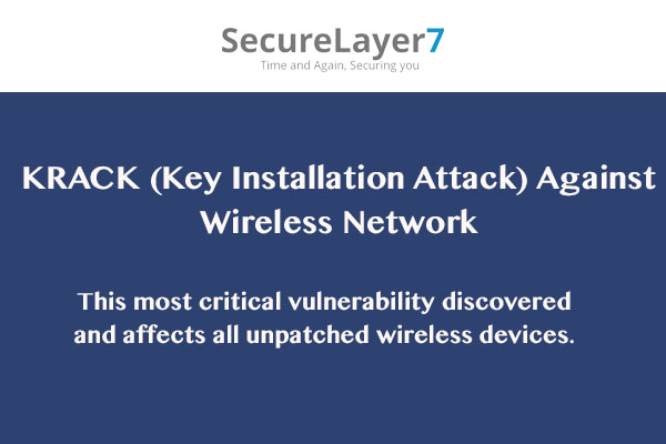 Key Reinstallation Attacks