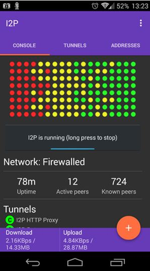 I2p android console