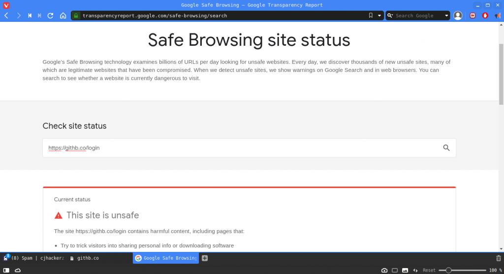 check malicious url