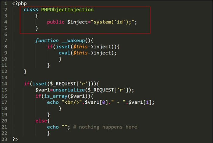 PHP Object injection